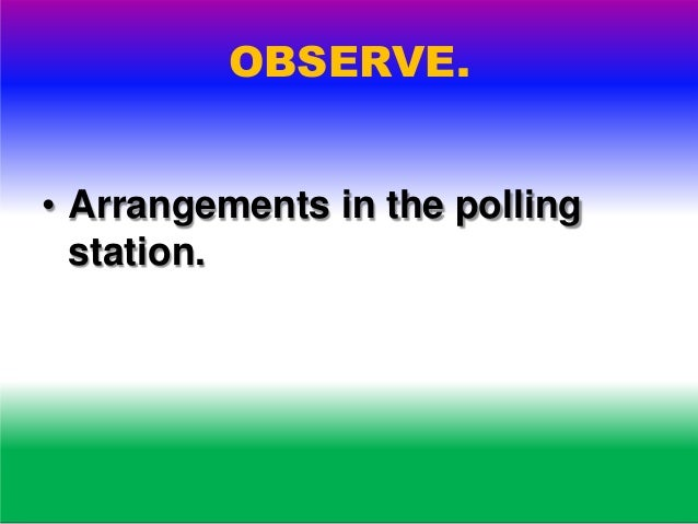 OBSERVE. • Polling agents.