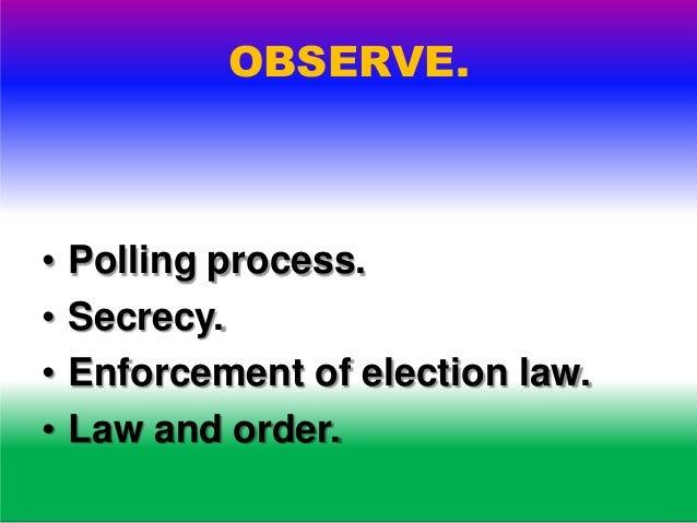 OBSERVE. • Mock polling.