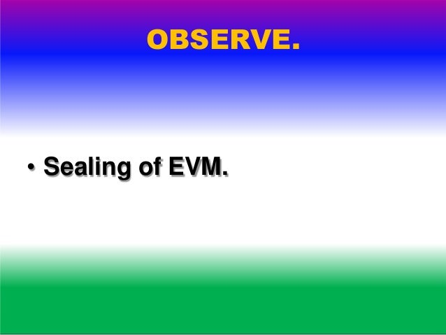 OBSERVE. • admission to PS-Entry Pass.