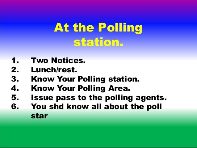 Election Monitoring Command and Control 4/10/2019 55