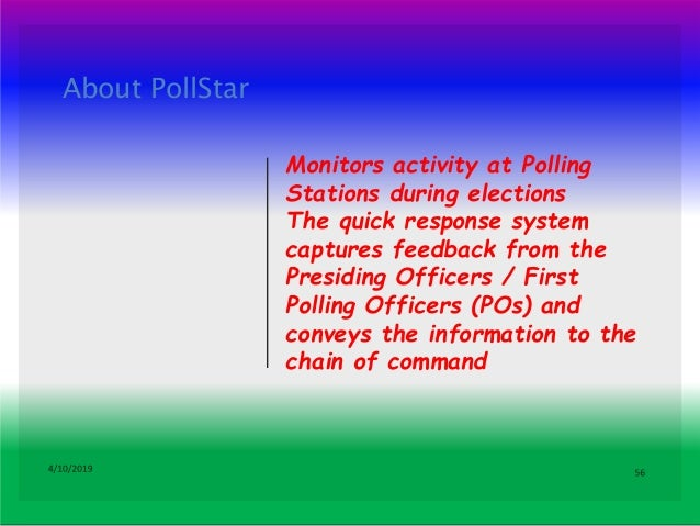 Steps to be followed by Polling Officers Step 1: POs may download the app from Google Play Store or Apple App Store Step 2...