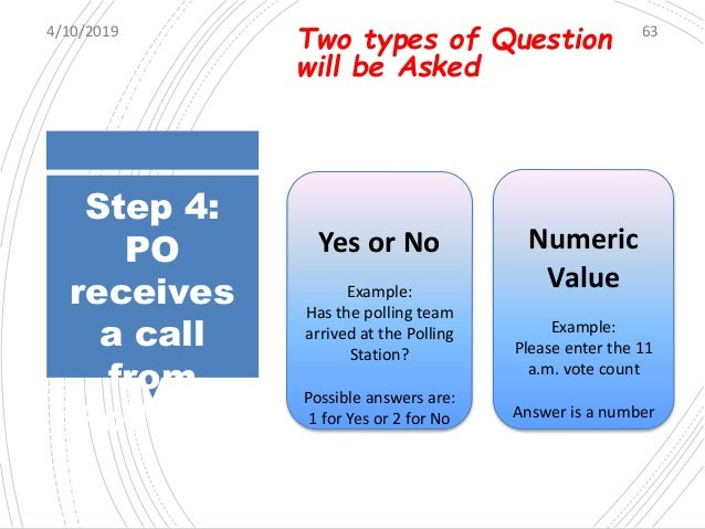 Step 5: Dial- in to deposit answer If the call is missed or an invalid entry is made, POs may dial the same number from wh...