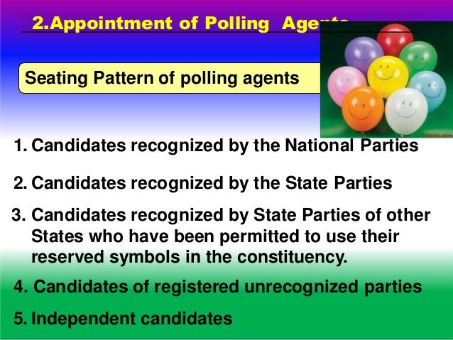DUTIES AND FUNCTIONS OF POLLING OFFICERS No Mobiles for polling agents/voters. Mobiles of polling officers should be in si...