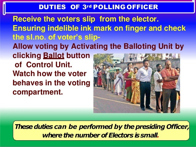 7AM- Polling starts. Men,Materials,Machine READY Mock poll certificate prepared. Machine sealed Declaration.. ANSWER THE Q...