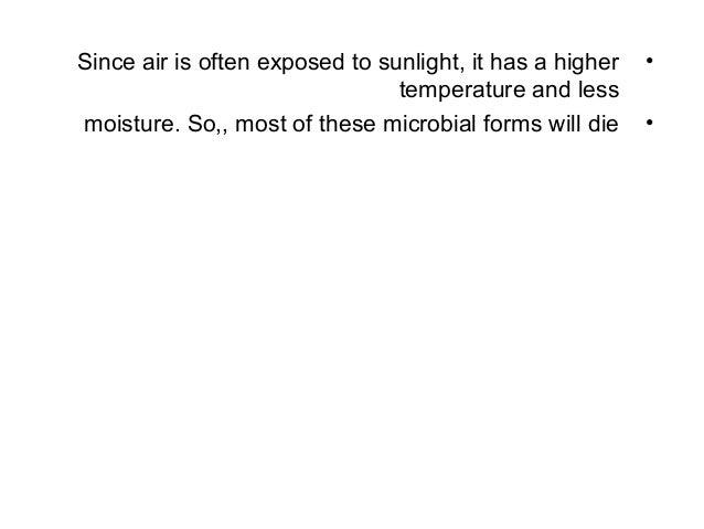 Microorganisms in air Slide 3