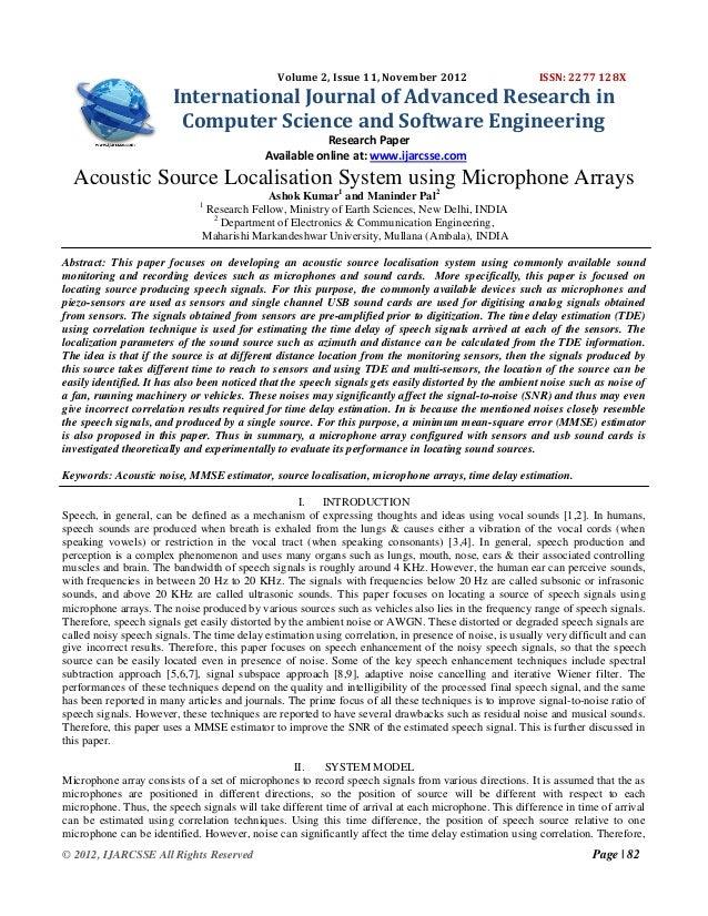Volume 2, Issue 11, November 2012                         ISSN: 2277 128X                        International Journal of ...