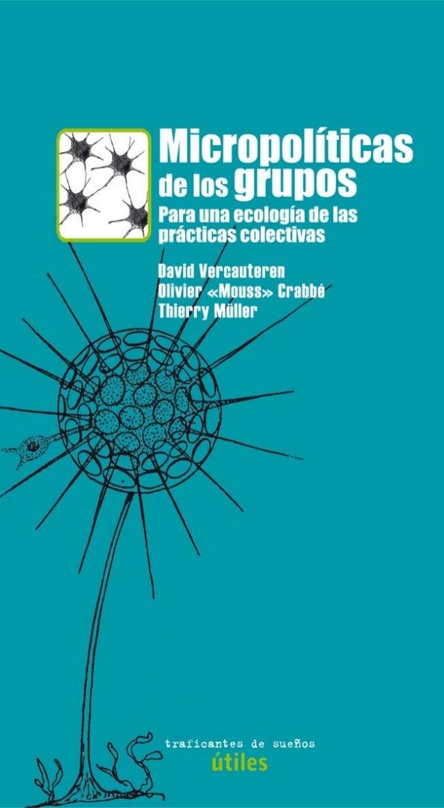 Micropolíticas de los grupos. para una ecología de las prácticas c… 97a1bfe4ce78