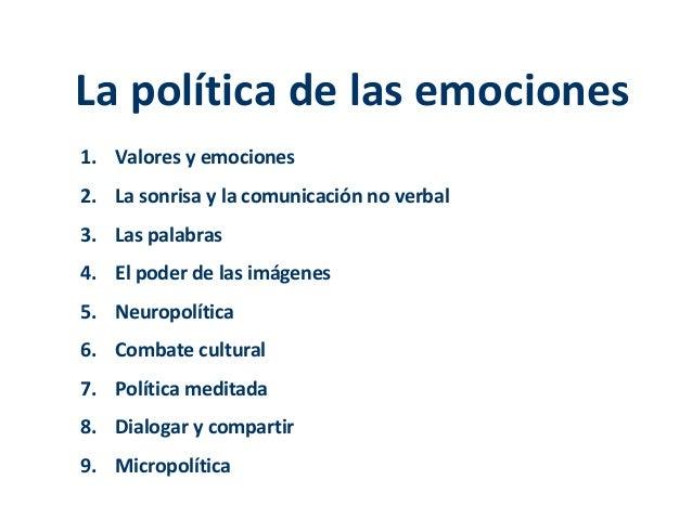 Micropolítica: La política de las emociones Slide 2