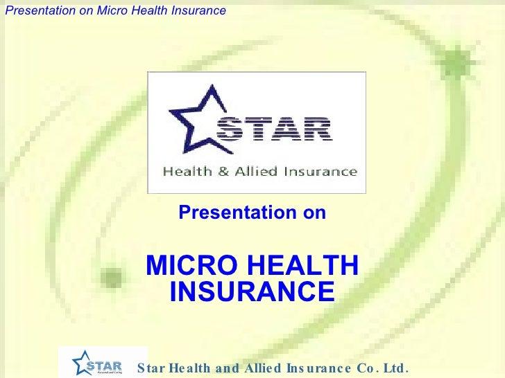 Presentation on MICRO HEALTH INSURANCE