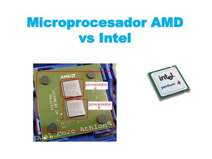 MicroprocesadorAMD vs Intel <br />