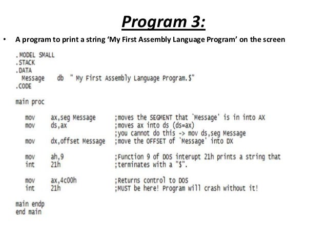 how to write assembly code