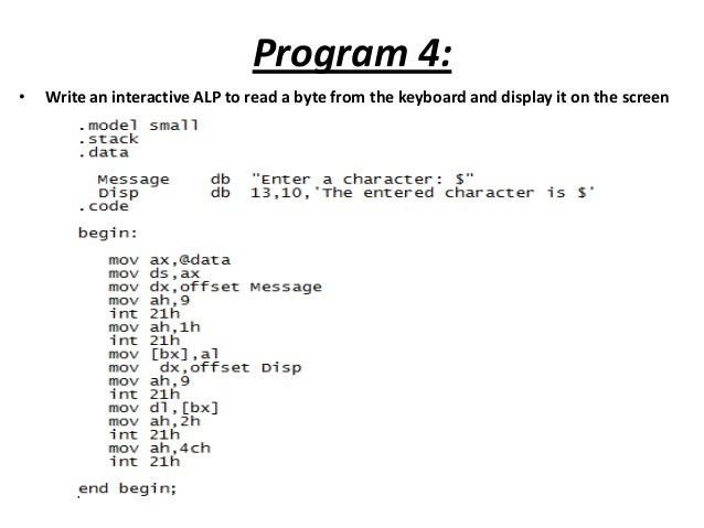 Microprocessor chapter 9 - assembly language programming