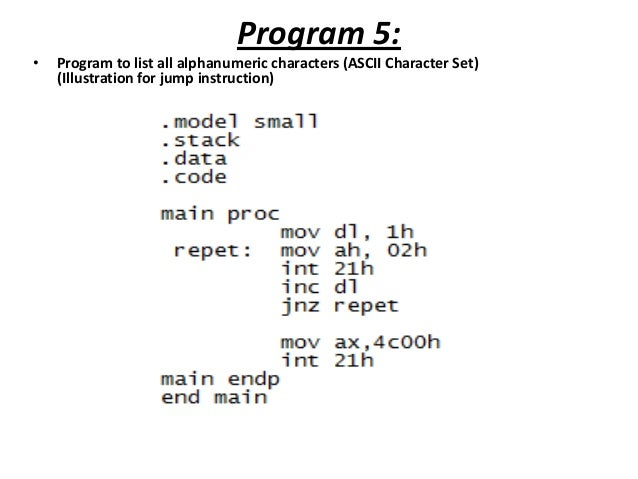 features of assembly language