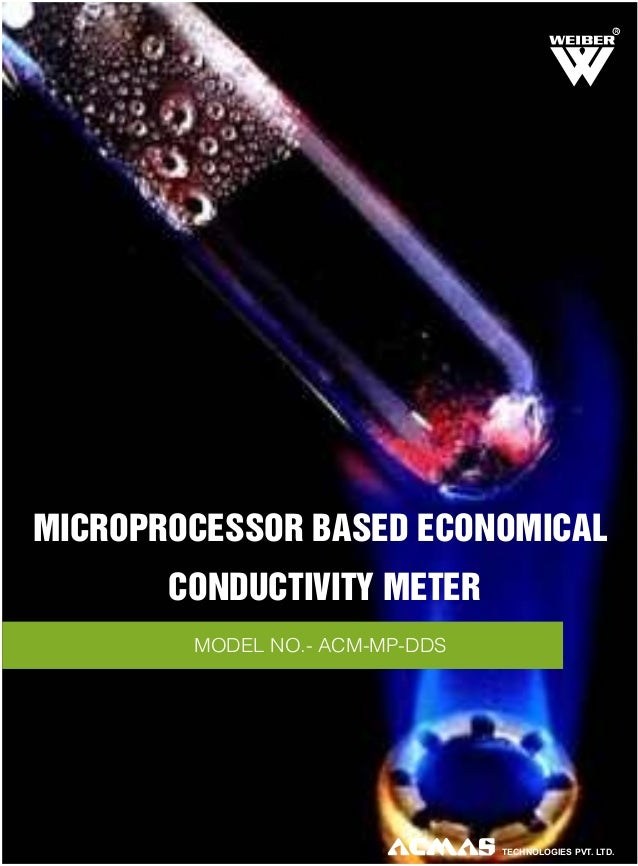 R  MICROPROCESSOR BASED ECONOMICAL CONDUCTIVITY METER MODEL NO.- ACM-MP-DDS  TECHNOLOGIES PVT. LTD.