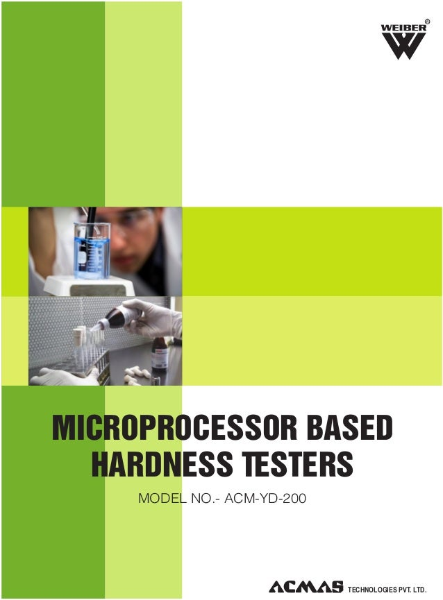 R  MICROPROCESSOR BASED HARDNESS TESTERS MODEL NO.- ACM-YD-200  TECHNOLOGIES PVT. LTD.