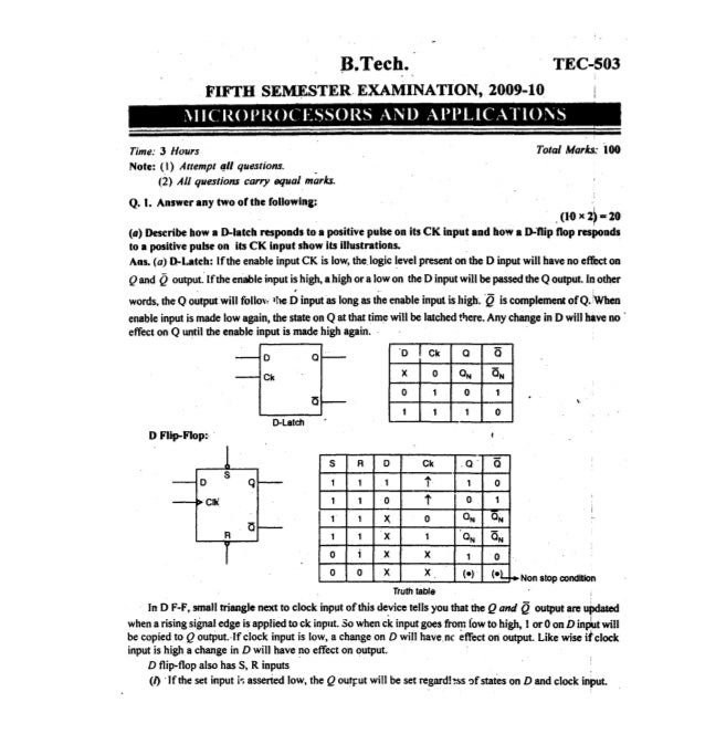 Microprocessor paper 3 with solutions