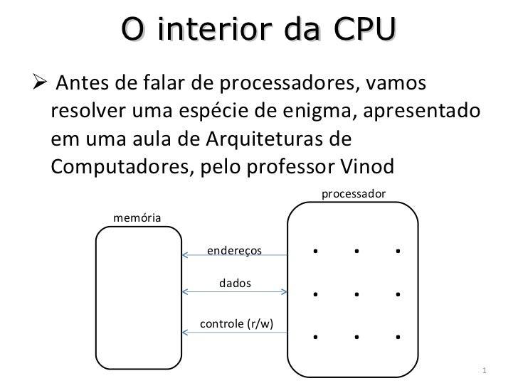 <ul><li>Antes de falar de processadores, vamos resolver uma espécie de enigma, apresentado em uma aula de Arquiteturas de ...