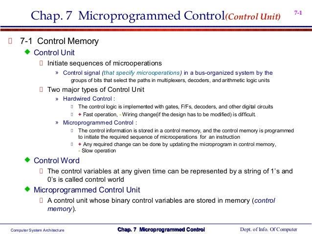 Chap. 7 Microprogrammed Control(Control Unit)                                                                            7...
