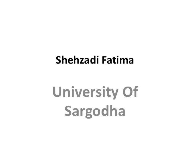 Shehzadi Fatima University Of Sargodha