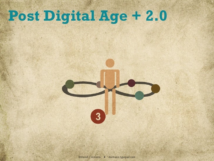 Post Digital Age + 2.0              ©David // Armano   •   darmano.typepad.com