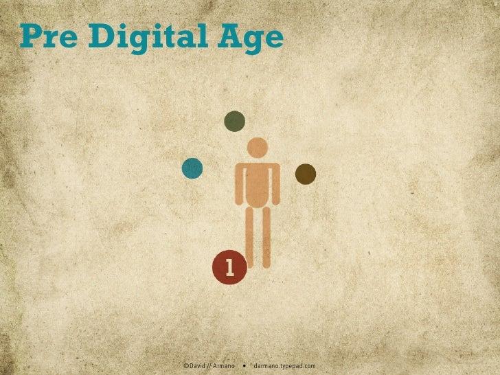 Pre Digital Age              ©David // Armano   •   darmano.typepad.com