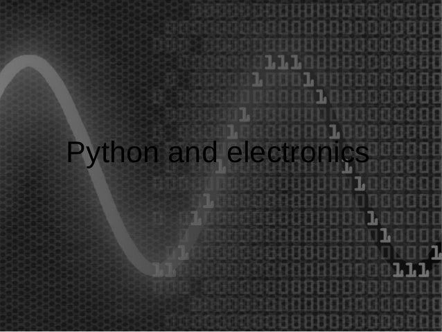 Python and electronics