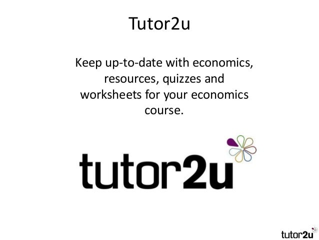 Tutor2u - Government Intervention