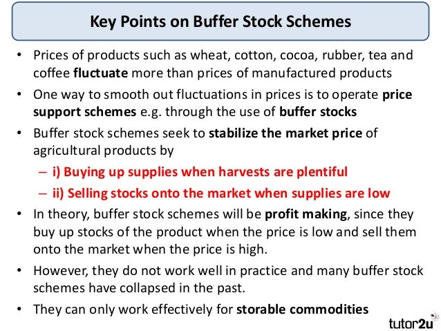 buffer stock schemes essay example This is a revision presentation on buffer stock schemes as a form of government government intervention - buffer stock schemes synoptic example.