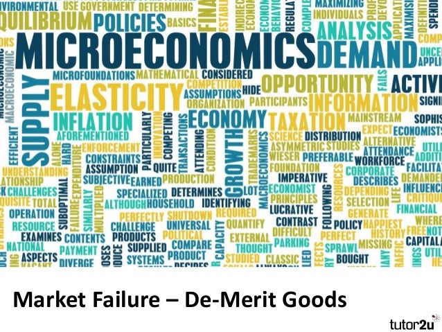Market Failure – De-Merit Goods