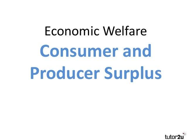 Tutor2u Consumer And Producer Surplus