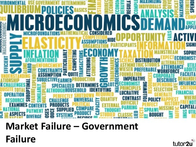market failure and government intervention Find out how to think about market failures what is a market failure it's impossible to identify a solution for market failure without clearly identifying what market failure is and why it persists the common interpretation of market failure.
