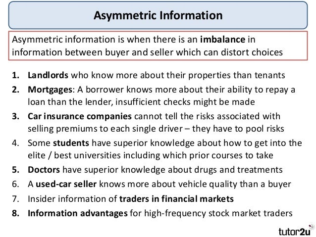 how the effect of information asymmetry Abstract this study about the influence of information asymmetry on the  commercial banks' lending in rwanda includes four specific.