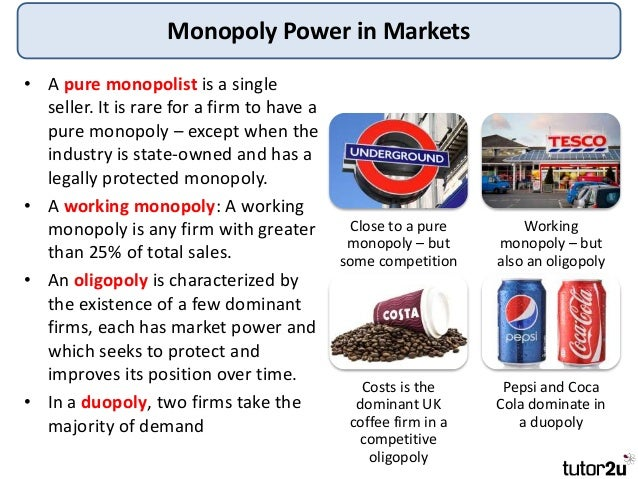 Tutor2u Market Failure Monopoly Power