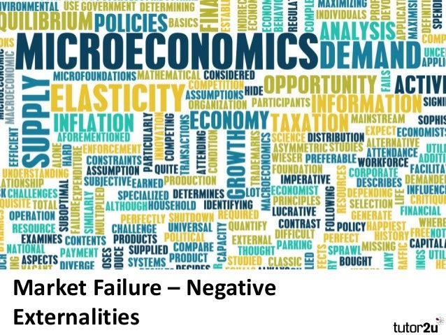 causes of market failure include externalities and market power