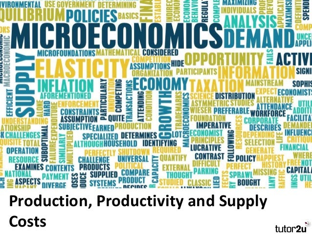 Production, Productivity and Supply Costs