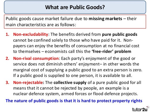 main causes of market failure