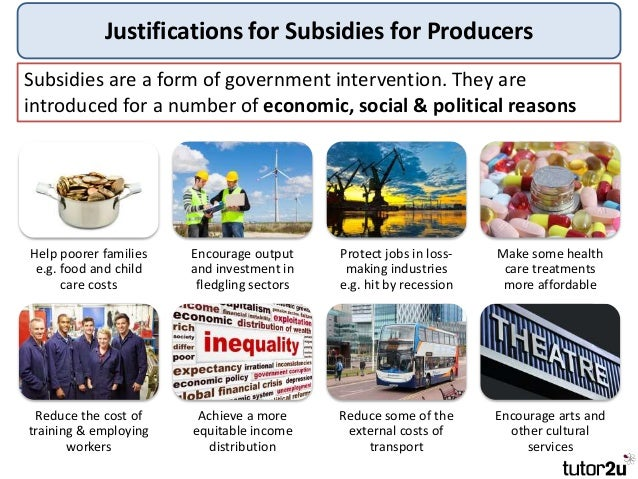 Tutor2u - Government Intervention – Subsidies
