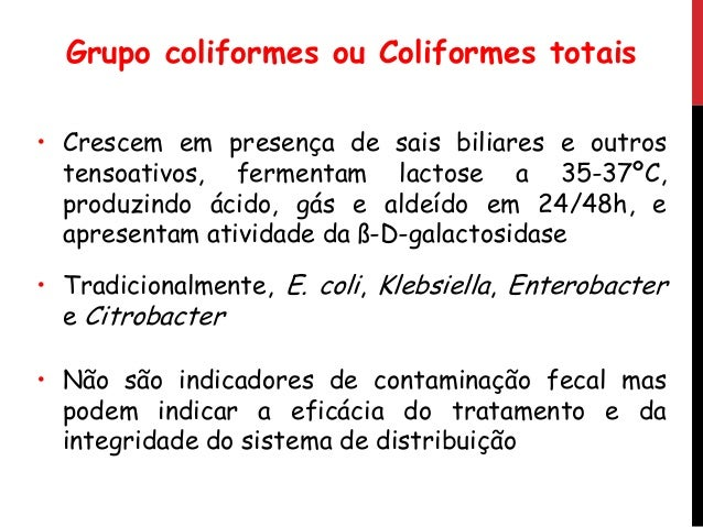 COLIFORMES TOTAIS E FAECALIS PDF DOWNLOAD