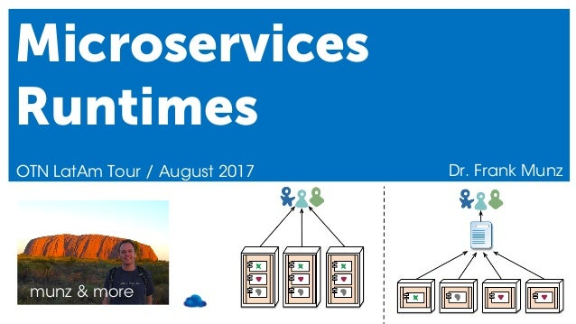 munz & more Microservices Runtimes OTN LatAm Tour / August 2017 Dr. Frank Munz