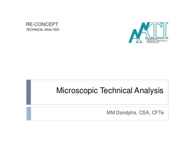 Microscopic Technical Analysis MM Dandytra, CSA, CFTe