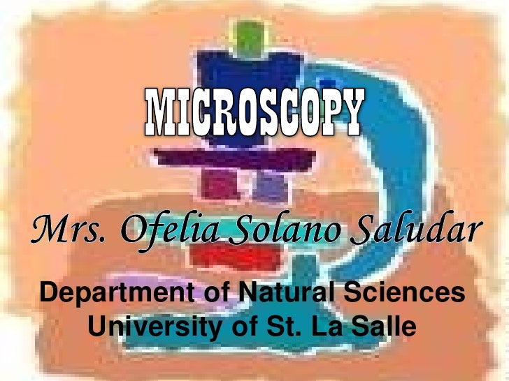 Department of Natural Sciences   University of St. La Salle