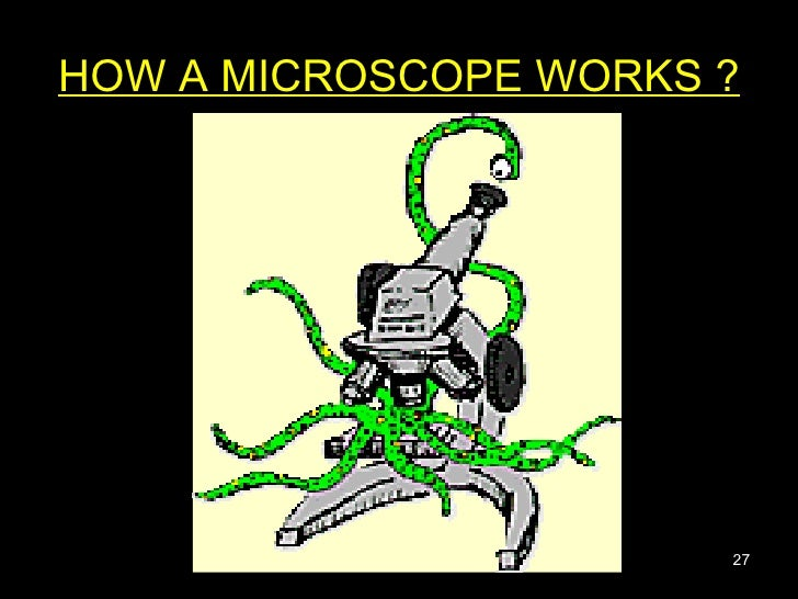 HOW A MICROSCOPE WORKS ?