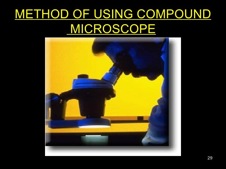 METHOD OF USING COMPOUND  MICROSCOPE