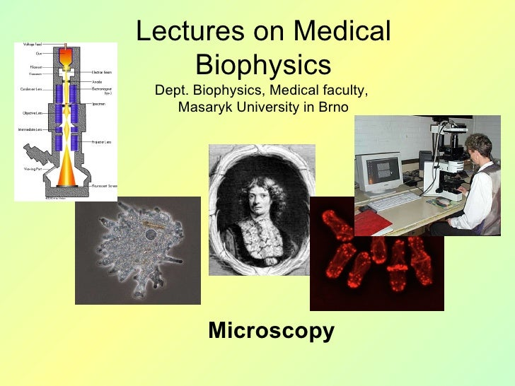 Microscopy Lectures on Medical Biophysics Dept. Biophysics, Medical faculty,  Masaryk University in Brno