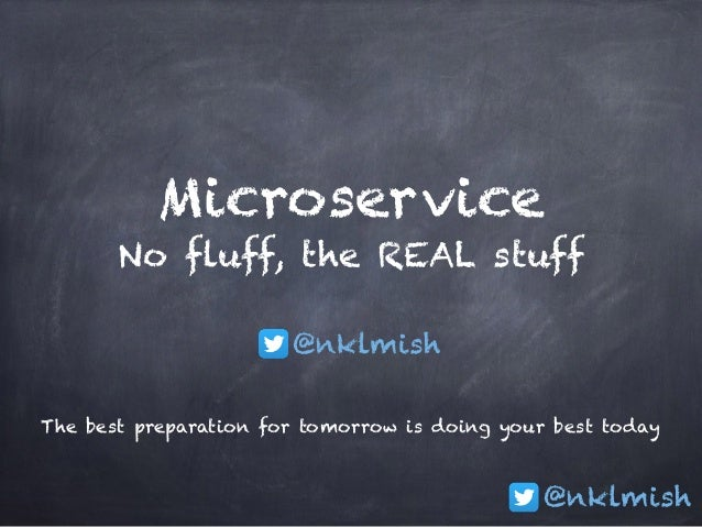 @nklmish Microservice