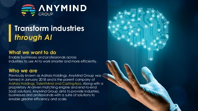 What we want to do Enable businesses and professionals across industries to use AI to work smarter and more efficiently. W...