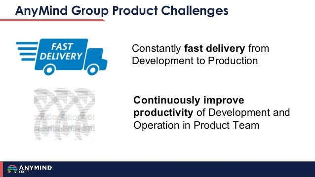 AnyMind Group Product Challenges Constantly fast delivery from Development to Production Continuously improve productivity...