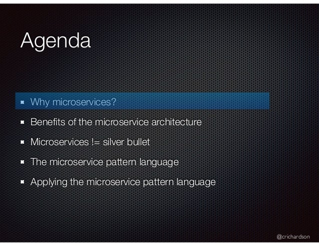 Spring Days Nyc A Pattern Language For Microservices