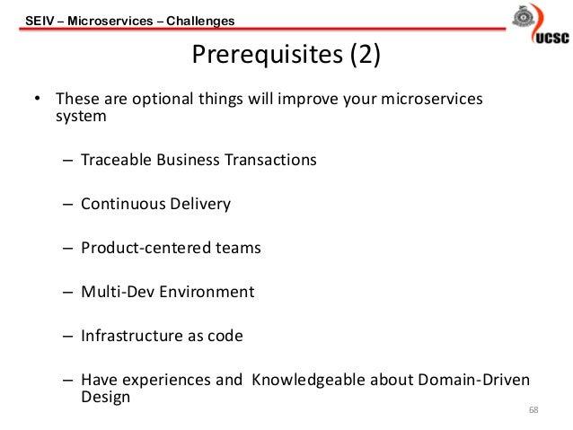 Microservice Architecture - Architecture prerequisites