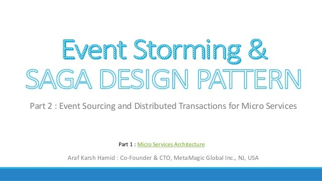 Araf	Karsh	Hamid	:	Co-Founder	&	CTO,	MetaMagic	Global	Inc.,	NJ,	USA Part	2	:	Event	Sourcing	and	Distributed	Transactions	f...